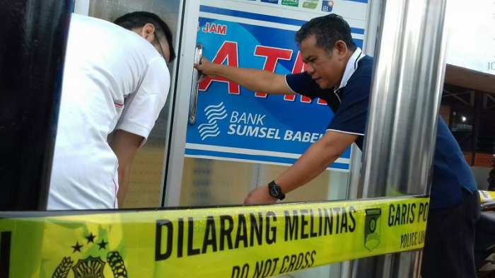 CCTV menjadi modal polisi menangkap percobaan pembobolan ATM